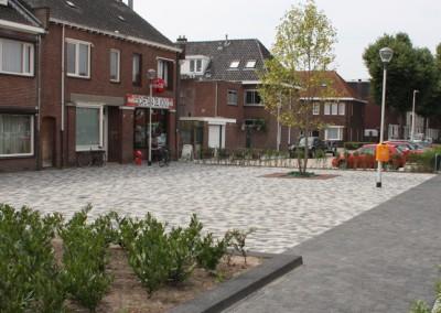 Route langs het plein