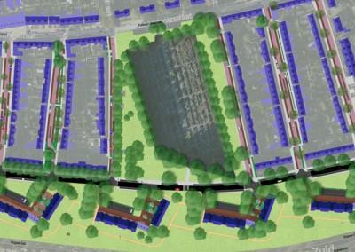 Aansluiting woonstraten op wijkgroen