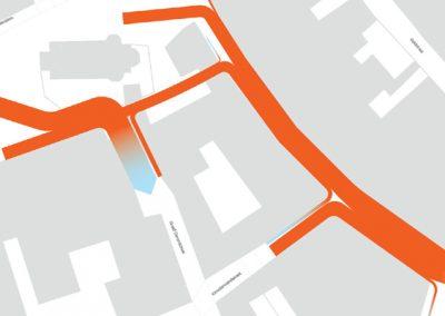 Grondige analyse van loopbewegingen van en naar de Hamstraat