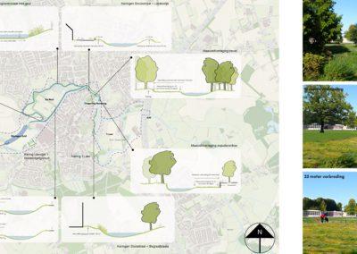 Plangebied met visualisaties